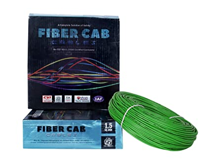 D'Mak� Fiber-Cab PVC Insulated Wire 1.5 SQ/MM Single Core Flexible Copper Wires and Cables for Domestic/Industrial Electric | Electric Wire | | 90 Mtr Coil | | Electrical Wire |