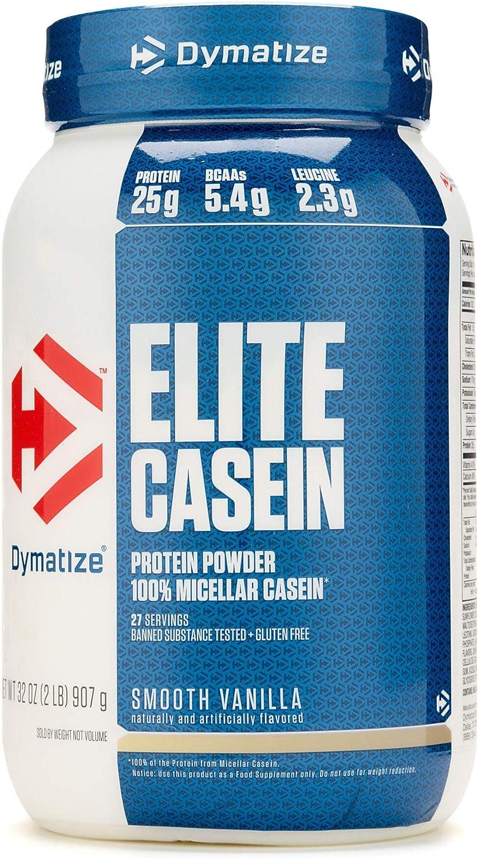 Dymatize Elite Casein (2lbs) 910 g: Amazon.es: Salud y ...