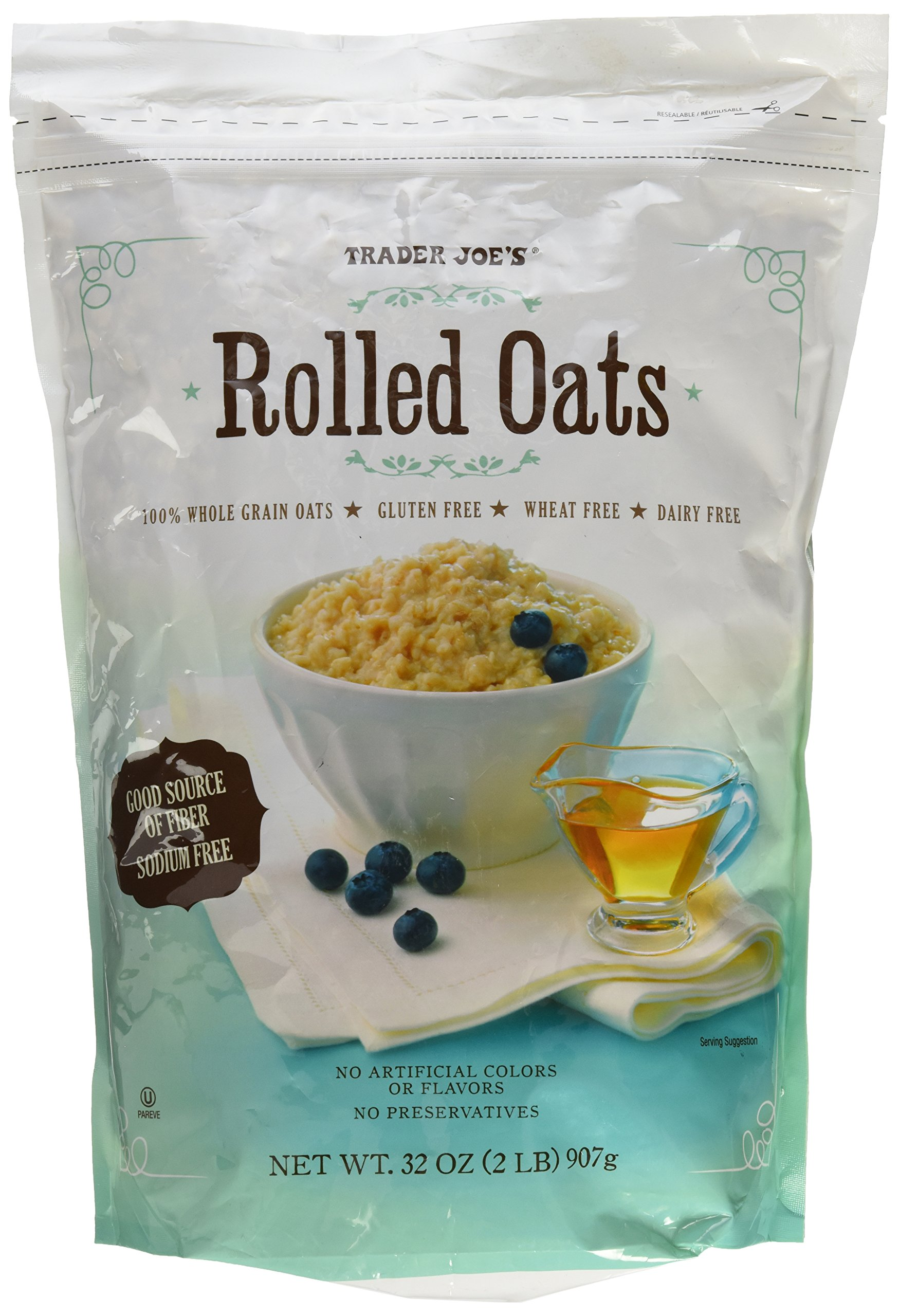 Trader Joes Gluten Free and Wheat Free Rolled Oats, 32 OZ