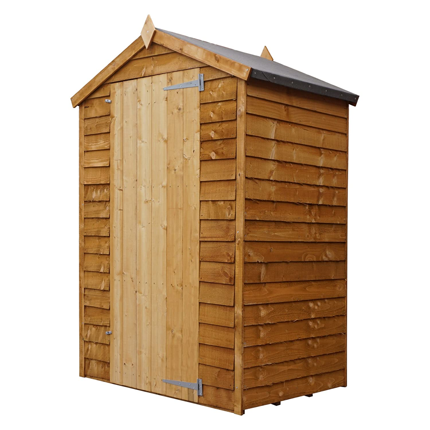 WALTONS EST. 1878 3x4 Wooden Garden Storage Shed, Overlap Construction Dip Treated with 10 Year Guarantee, Windowless, Single Door, Apex Roof, Roof Felt & Floor Included, (3 x 4 / 3ft x 4ft) 3-5 Day Delivery - By Waltons