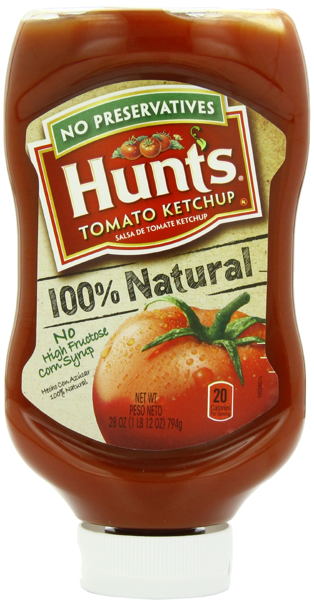 Hunt's 100% Natural Tomato Ketchup, 28 oz, 12 Pack