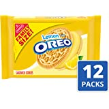 Nabisco Golden Oreo Sandwich Cookies, Lemon Crème, 20 Ounce (Pack of 12)