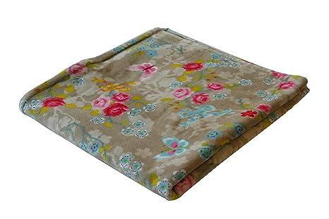 PiP toalla de baño 70 x 140 cm 100% algodón chino Blossom caqui, algodón