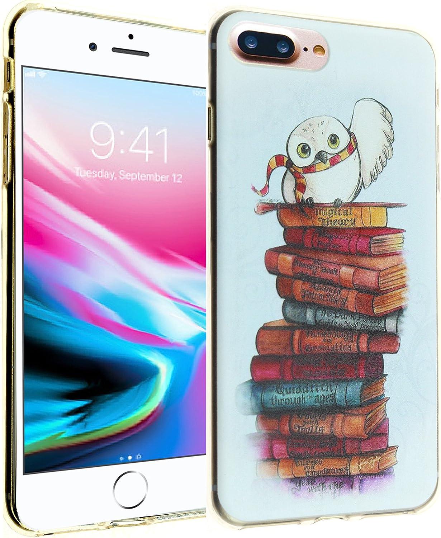 iPhone 8+ Plus Case, iPhone 7+ Plus Case, IMAGITOUCH Anti-Scratch Shock Proof Slim Fit Flexible TPU Case Bumper Cover for iPhone 8 Plus / 7 Plus - Hedwig Owl Bumper