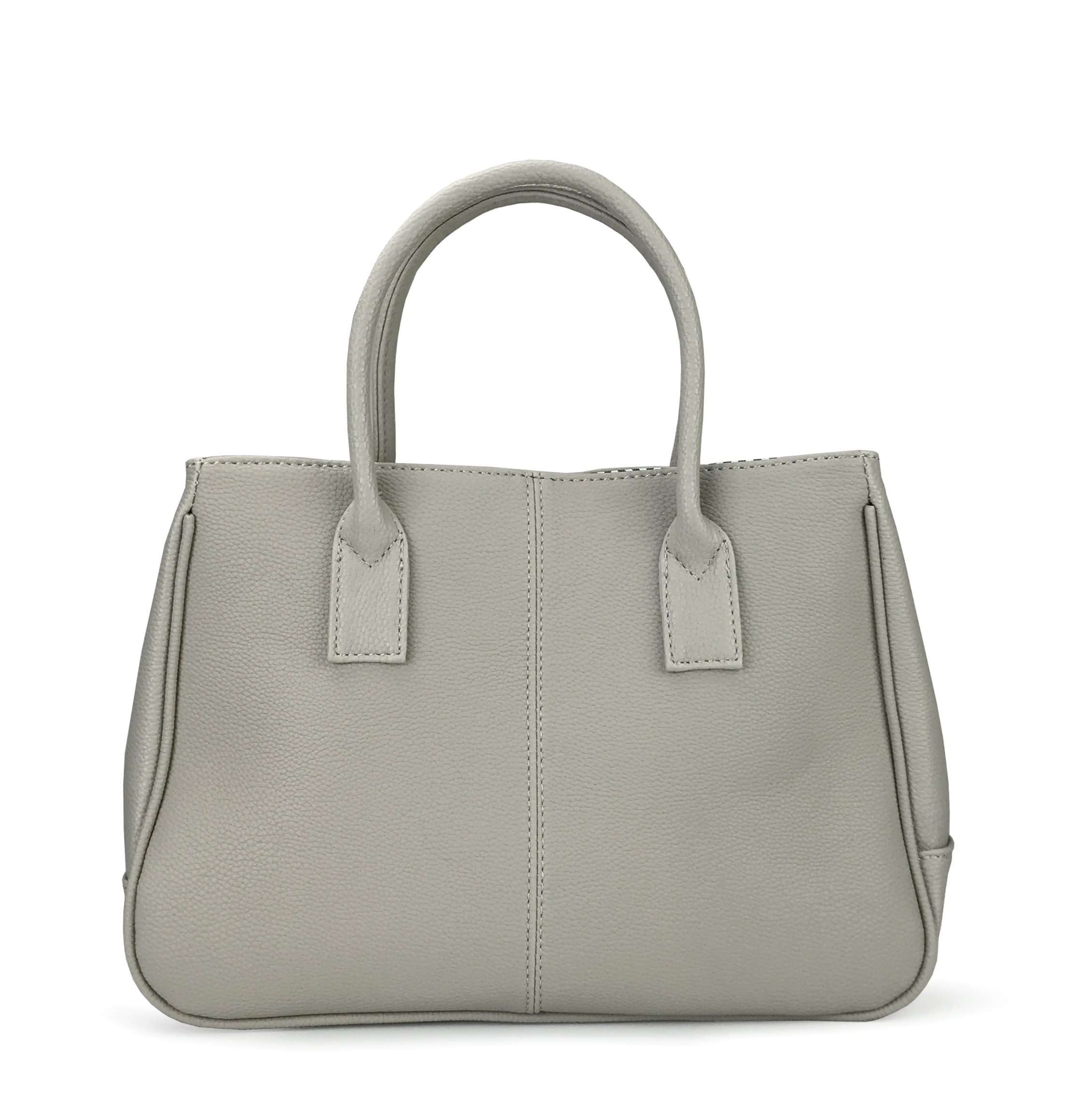 Hoxis Classical Office Lady Minimalist Pebbled Faux Leather Handbag Tote/Magnetic Snap Purse(Gray)