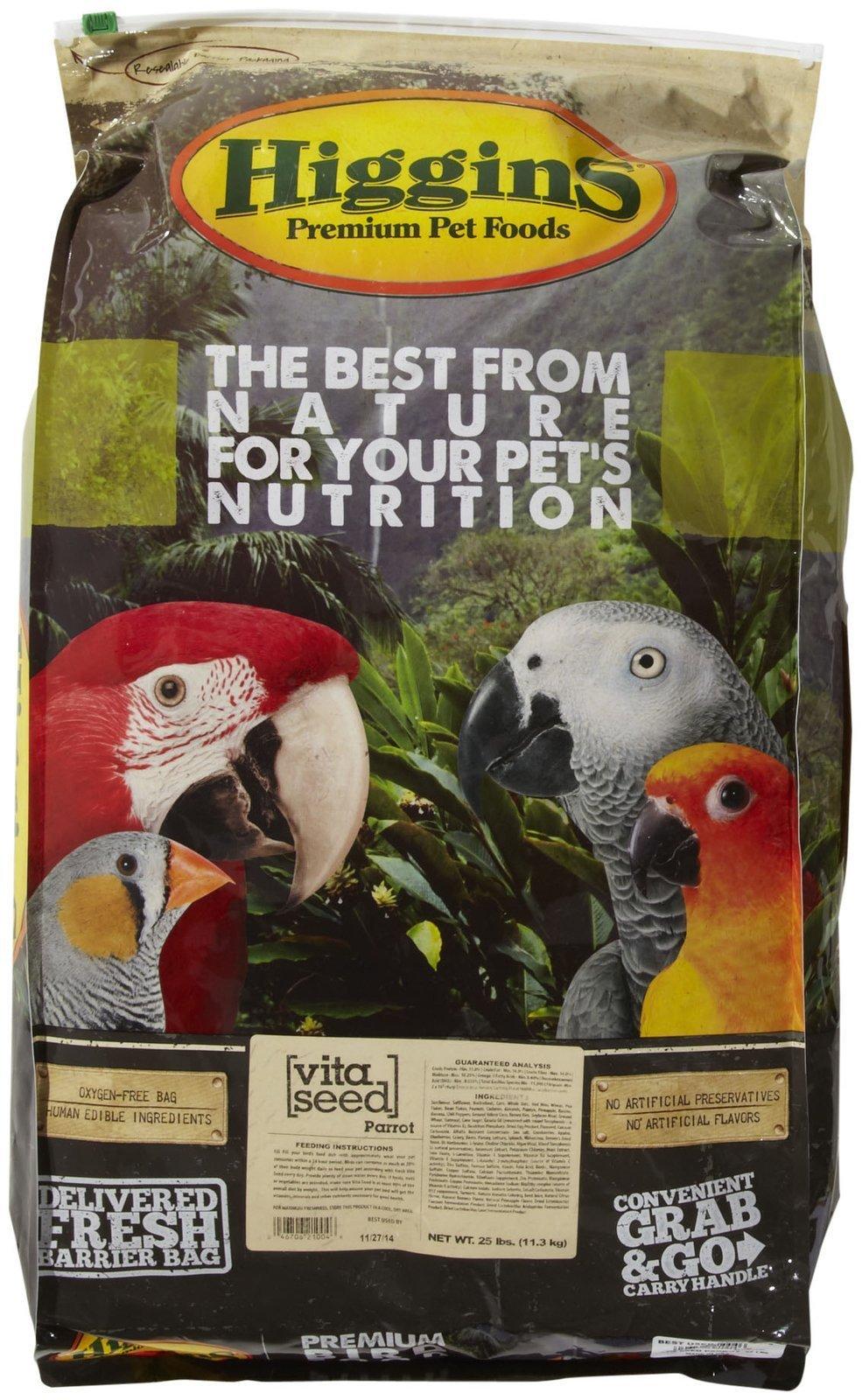 Higgins 466145 Vita Seed Parrot Food For Birds, 25-Pound by Higgins