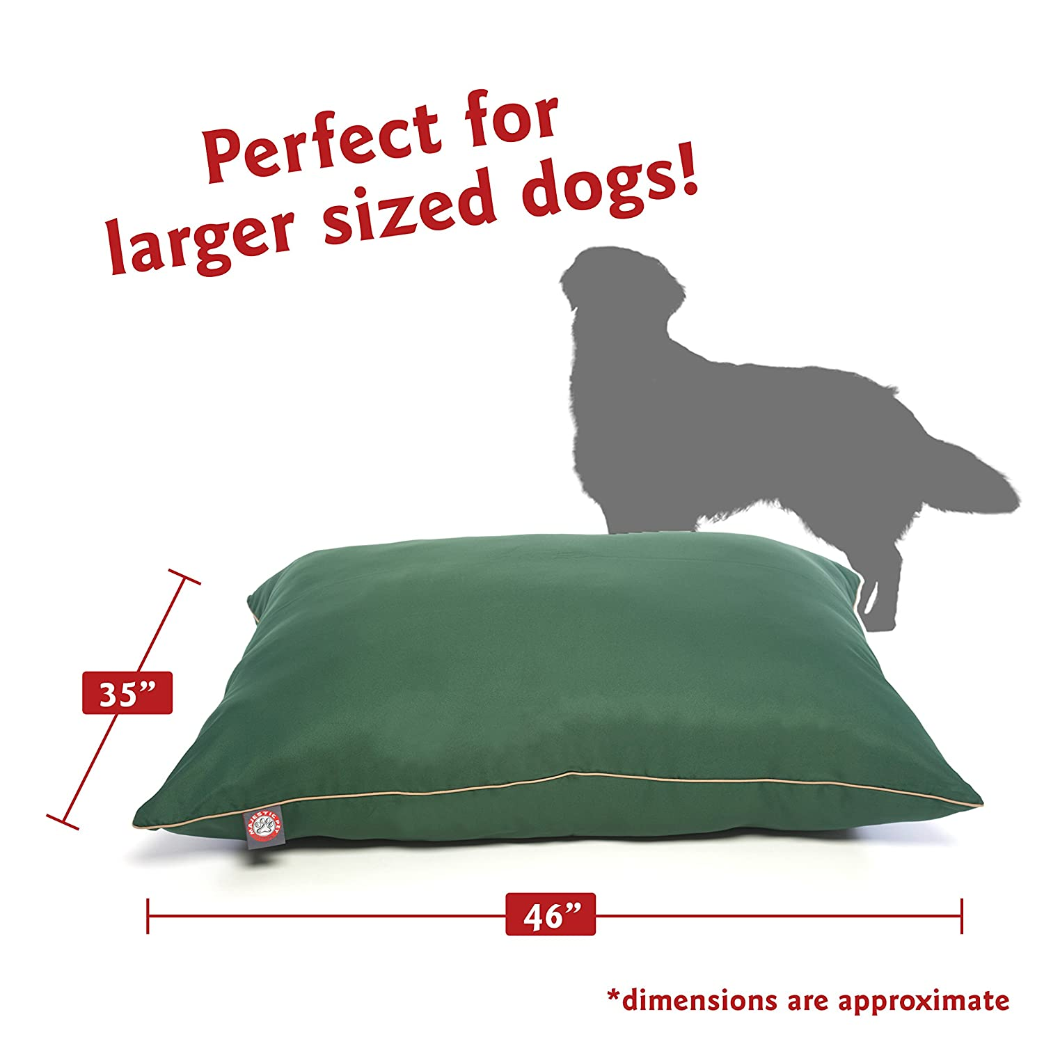 Amazon Majestic Pet 35x46 Green Super Value Dog Bed By Products Large Supplies