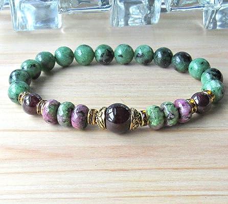 Hope, Garnet, Ruby zoisite bracelet, Yoga bracelet, Healing bracelet, heart chakra,