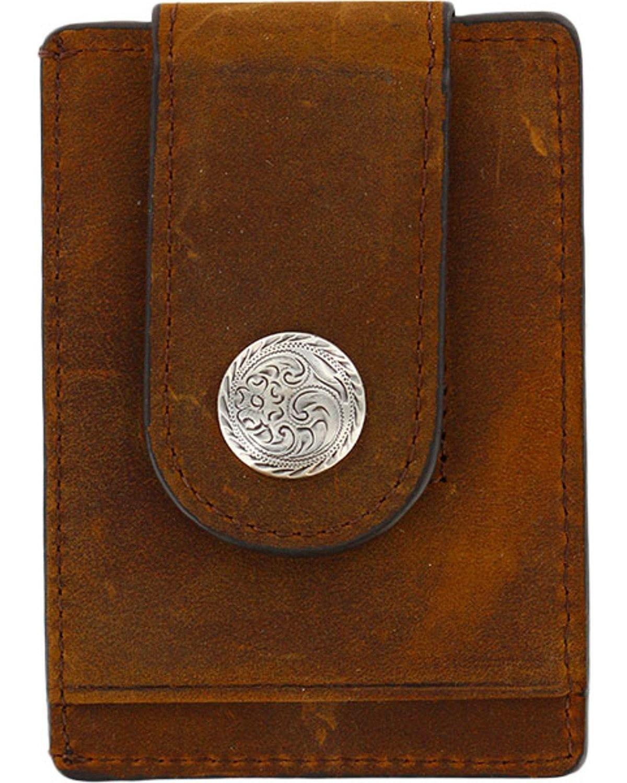 Cody James Men's Boot Stitch Money Clip Wallet Brown One Size