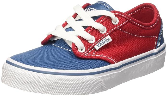 Vans Atwood Unisex-Kinder Sneakers Rot Blau