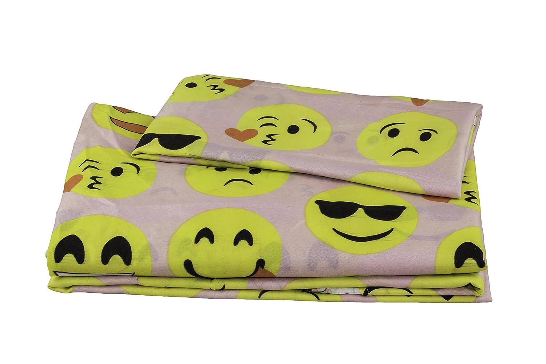 off fabugears emoji fun sheet set   piece (pink twin size  - off fabugears emoji fun sheet set   piece (pink twin size