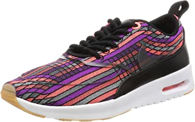 Nike Women's Wmns Air Max Thea Ultra JCRD PRM, BLACK/BLACK-GUM YELLOW-WHITE