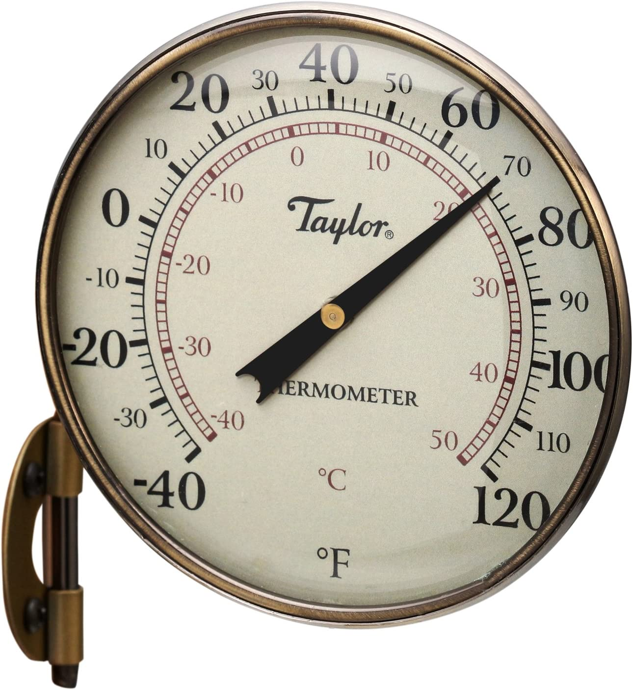 Taylor Precision Products Heritage Metal Dial Thermometer 4.25-Inch