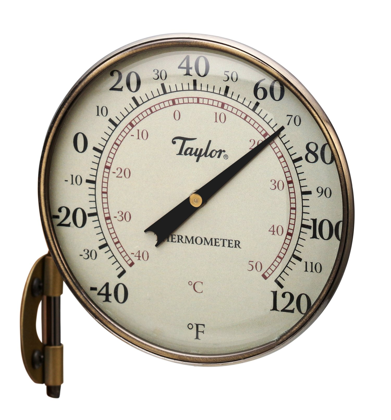 Taylor Precision Products Heritage Metal Dial Thermometer (4.25-Inch)