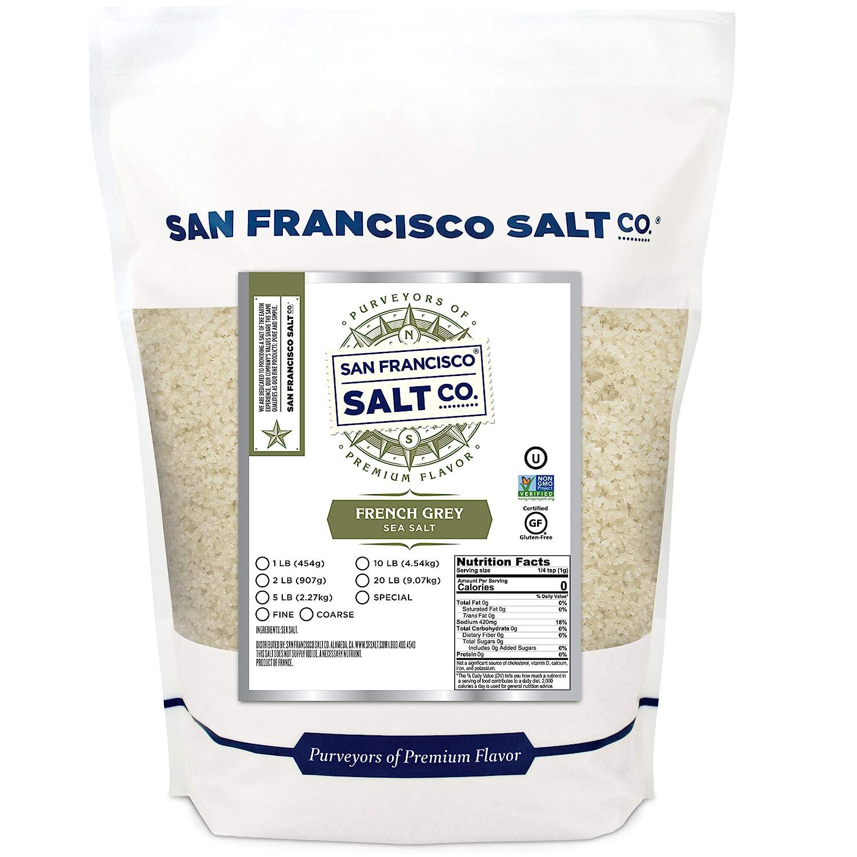 French Grey Sea Salt 10 lb. Bag Coarse Grain - Sel Gris by San Francisco Salt Company