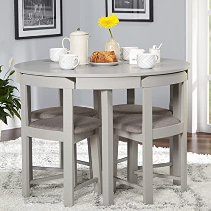 Superieur Image Unavailable. Image Not Available For. Color: 5 Piece Dining Set    Contemporary Space Saving Compact Dining Room Furniture   Round ...