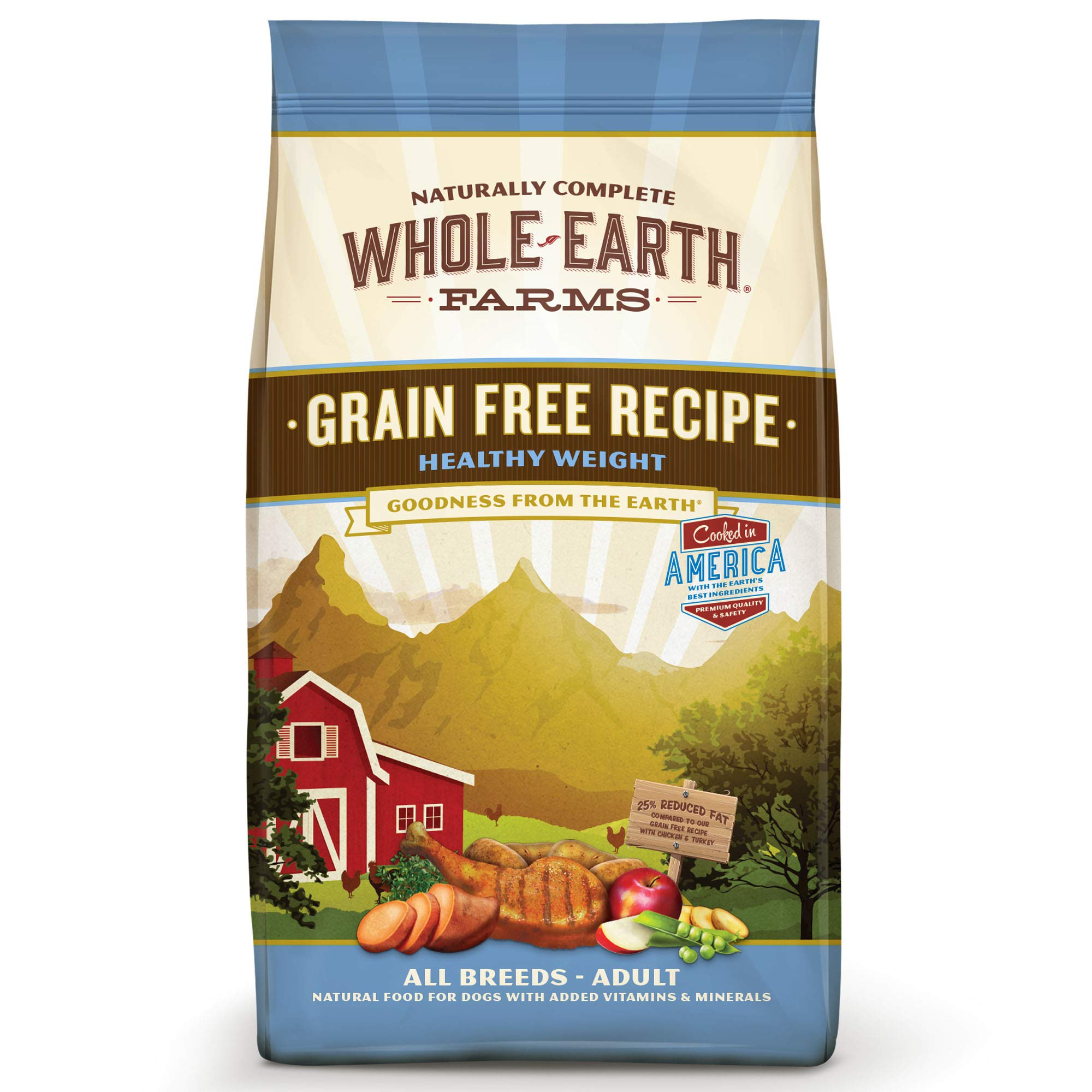 Whole Earth Farms Grain Free Weight Control Dry Dog Food; Healthy Weight Recipe by Whole Earth Farms