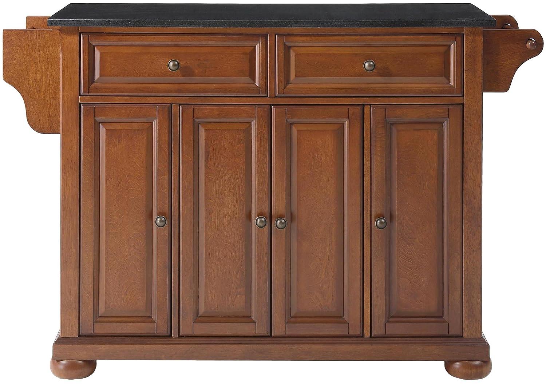 Crosley Furniture KF30004ACH Alexandria Kitchen Island with Solid Black Granite Top, Classic Cherry