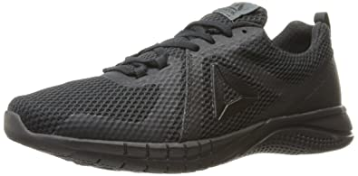 reebok mens running shoes. reebok men\u0027s print 2.0 running shoe, black/lead, mens shoes