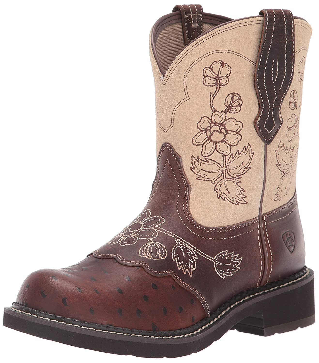 Copper Ostrich Print Sand Ariat Womens Western Boot Western Boot