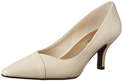 Easy Street Womens Chiffon Pointed Toe Classic Pumps Bone Size 8.0