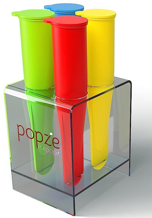 popze icepopit Premium silicona 4 tratar de postre moldes, soporte ...