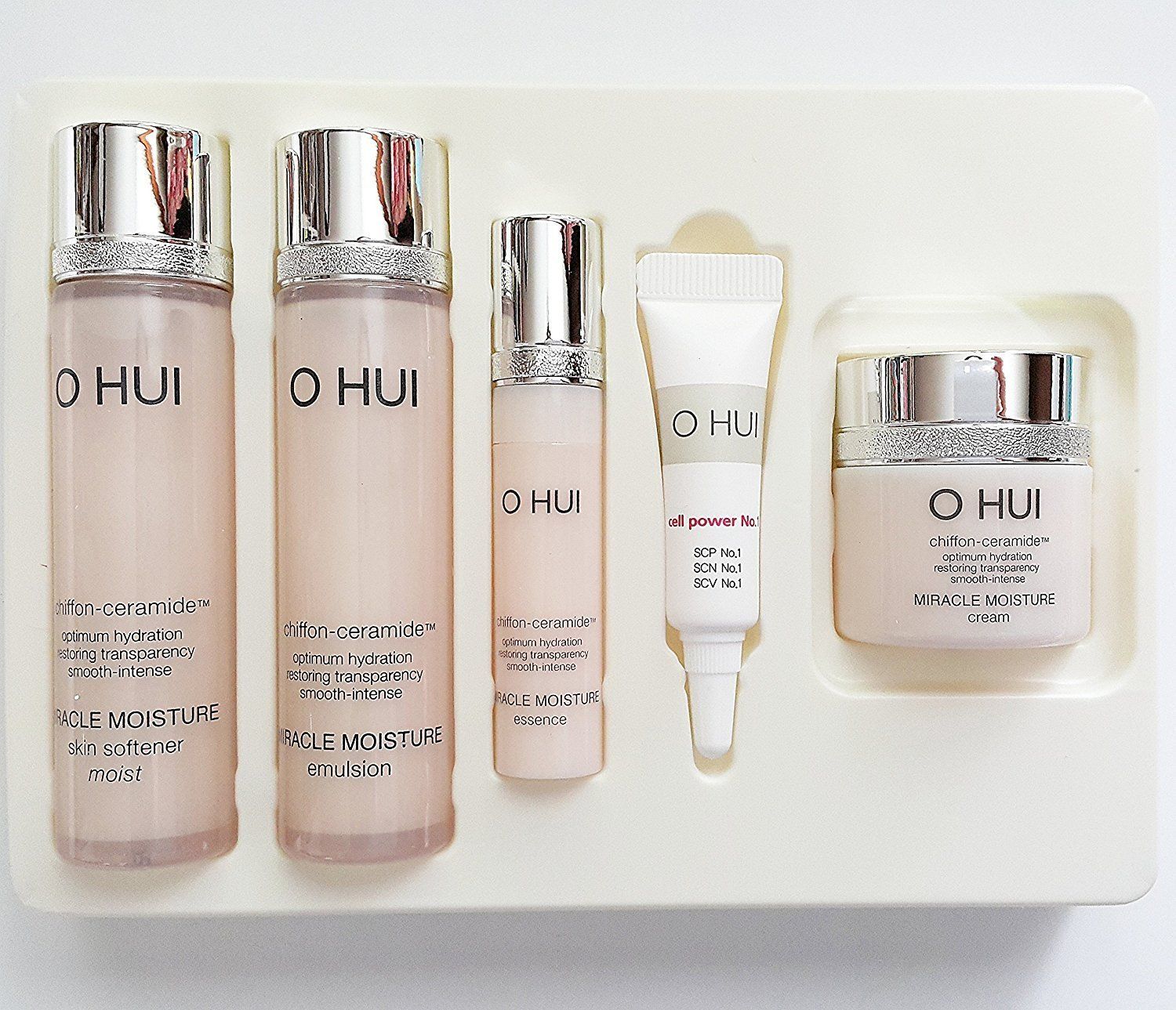 Ohui Miracle Moisture Miniature Kit 5-piece Special Gift Set 2015 New Version