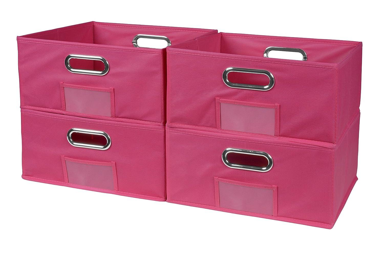 Niche Cubo Half-Size Foldable Fabric Storage Bins (Set of 6), Beige Regency HTOTE066PKNT