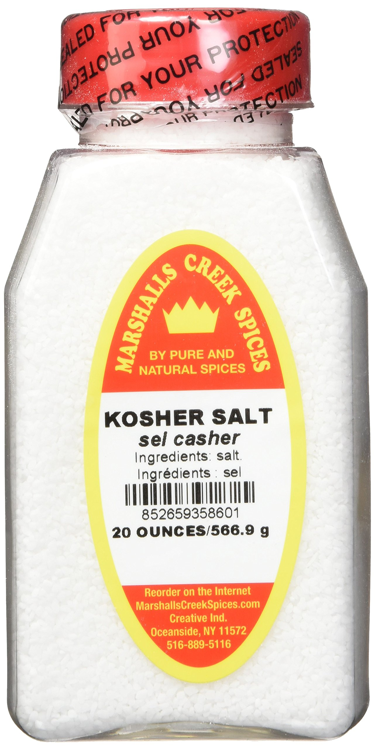 Marshalls Creek Spices Kosher Salt Freshly Packed in Large Jars, 20 Ounce (Pack of 12)