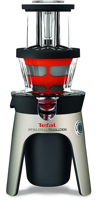 Tefal Infiny Press Revolution ZC500H - Exprimidor (Aluminio, Negro, Rojo, Acero inoxidable