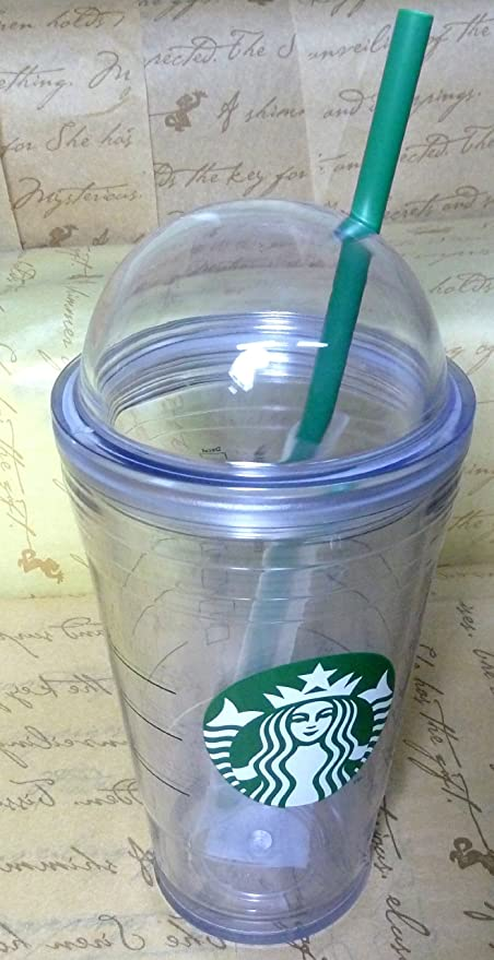8bf29ccc8df Starbucks Summer Tumbler Clear Logo Cold Cup Dome Lid ,Double-Wall ,  Insulated Straw