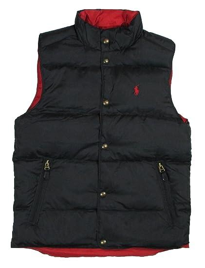 Polo Ralph Lauren Hombre Reversible Acolchado Chaleco - Rojo -: Amazon.es: Ropa y accesorios