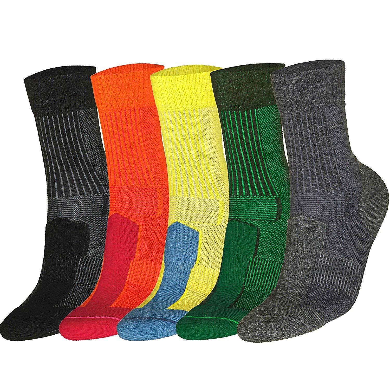 DANISH ENDURANCE Merino Wool Light Socks (Black 3 Pairs, US Women 8-10 // US Men 6.5-8.5)
