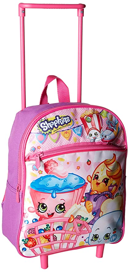 3741841b9ed Shopkins Girls  12 Inch Rolling Backpack, Pink, No Size  Amazon.ca ...