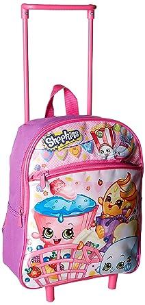 Amazon.com   Shopkins Girls' 12 Inch Rolling Backpack, Pink, No ...