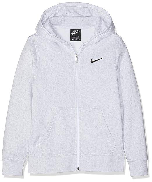 consegna veloce costo moderato ricco e magnifico Nike Hoodie Ya76 Brushed Fleece Full-Zip Felpa, Grigio (Birch ...