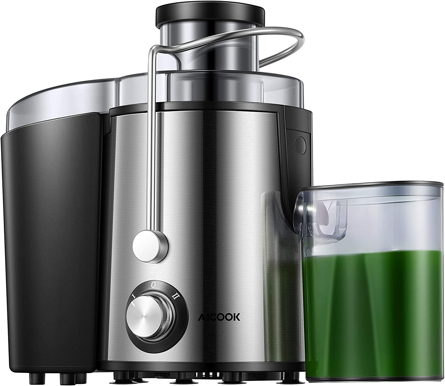"""Juicer,Centrifugal Juicer with 2 Speeds,Easy to Clean Wide 3"""" Large Feed Chute for Fruit Vegetable, Anti-drip, High Quality Aicook Centrifugal Juicer"""
