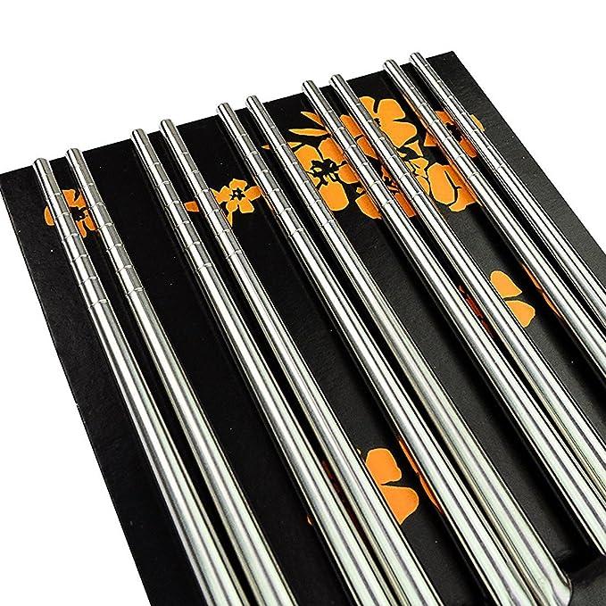 Amazon.com: Rbenxia - Palillos de acero inoxidable en ...