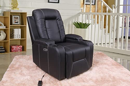 Home Life Black Premiere Classics Ultra Relaxation Power Recliner Chair