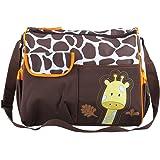 TRIXES Sac avec Girafe pour Changer les Bébés et Contenant un Tapis de Change et un Sac Transparent pour des Accessoires