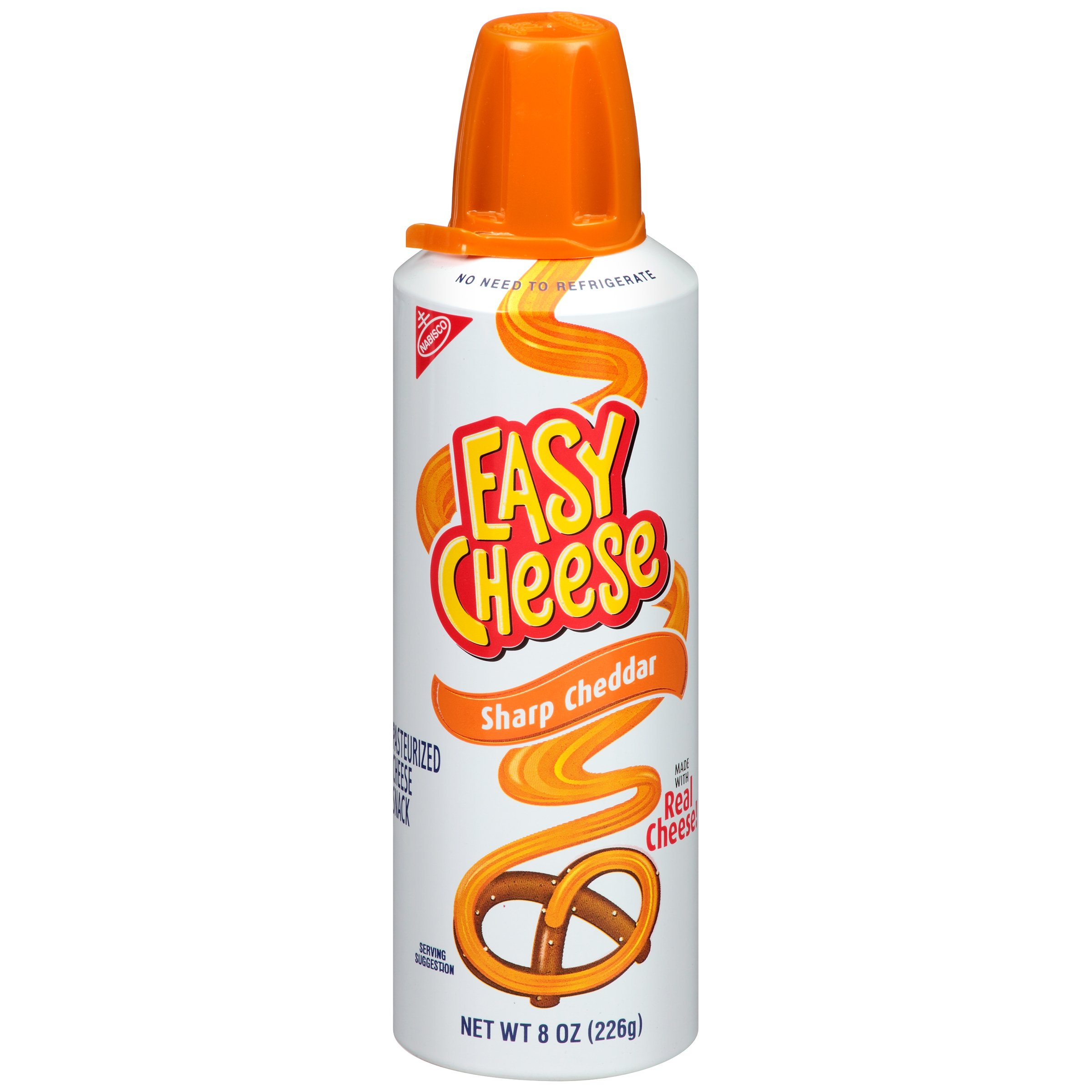 Easy Cheese Sharp Cheddar Cheese Snack, 8 Ounce (Pack of 12)