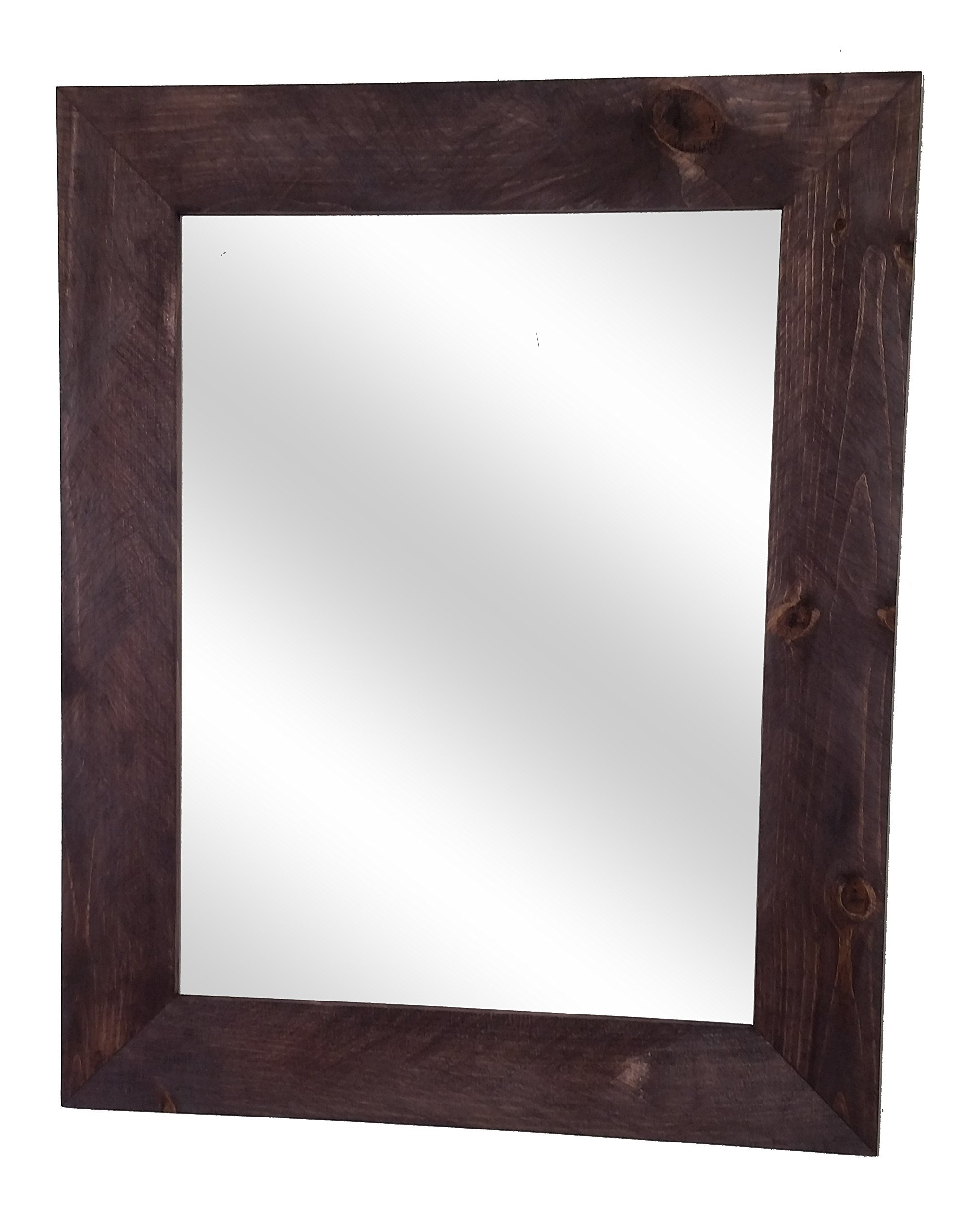 Shiplap Mirror 24 x 30 Vertical Red Mahogany Stain Reclaimed Wood Mirror - Large Wall Mirror - Rustic Modern Home - Home Decor - Mirror - Housewares - Woodwork - Frame by Renewed Decor