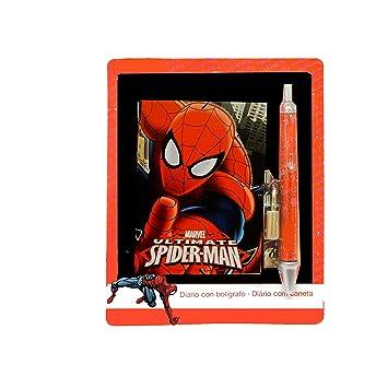 Mini Diario Spiderman Amazon Es Juguetes Y Juegos