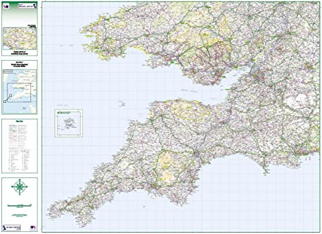 Map Of England To Colour.Road Map 7 South West England South Wales Colour