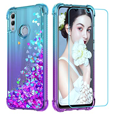 hot sale online 5e992 77351 LeYi Case for Huawei P Smart 2019 with Screen Protector, Girl 3D Glitter  Liquid Cute Personalised Clear Silicone Gel Shockproof Phone Cover for  Huawei ...