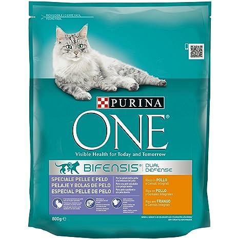 Purina ONE Bifensis Pienso para Gatos Cuidado de Pelaje y Bolas de Pelo Pollo y Cereales