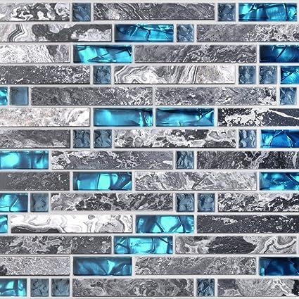 Home Building Glass Tile Kitchen Backsplash Idea Bath Shower Wall