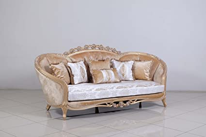 Amazon.com: Europeo muebles Valentina sofá de lujo: Kitchen ...