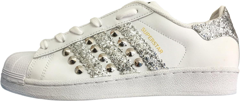 adidas donna superstar glitter argento