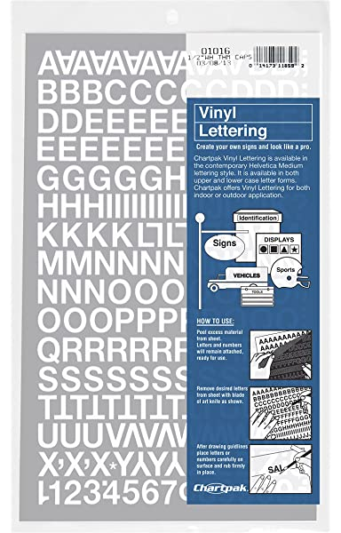 White 3//4 Inch VINYL LETTERS 100 Stick on Self Adhesive Letters//Numbers 20mm